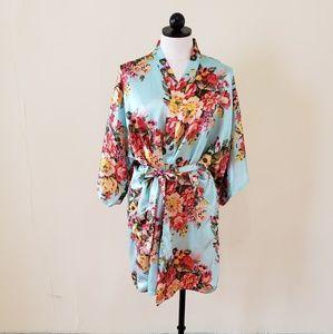 Other - Floral Silk Kimono Robe